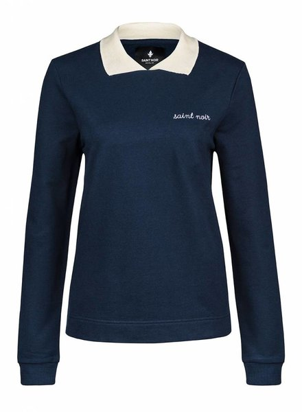 Sweatshirt Straight Collar Damen - New Noir