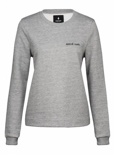 Sweatshirt Straight Fit Women - New Noir