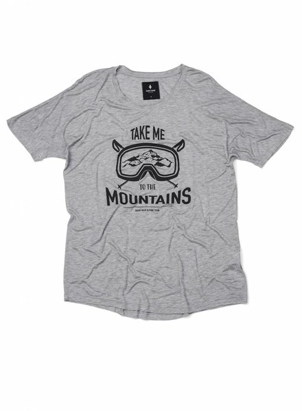 T-Shirt Loose Fit Herren - Mountains