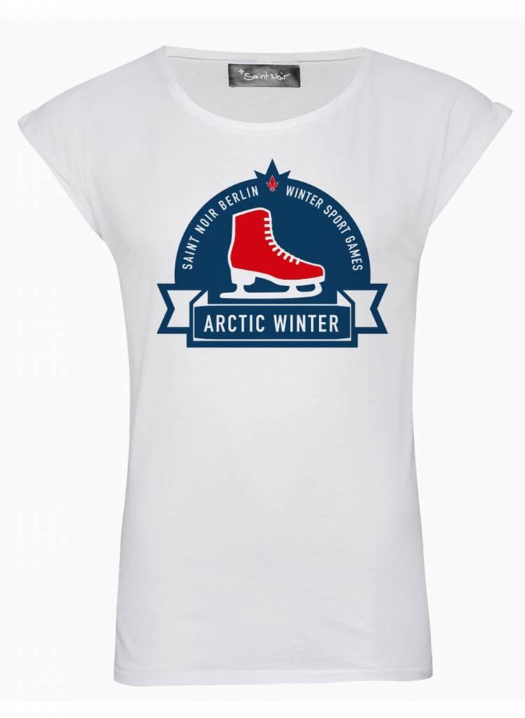 T-Shirt Rolled Sleeve Damen - Arctic Winter