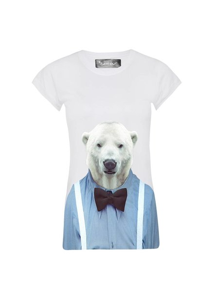 T-Shirt Skinny Cut Women - Polar Bear - Zoo Portraits