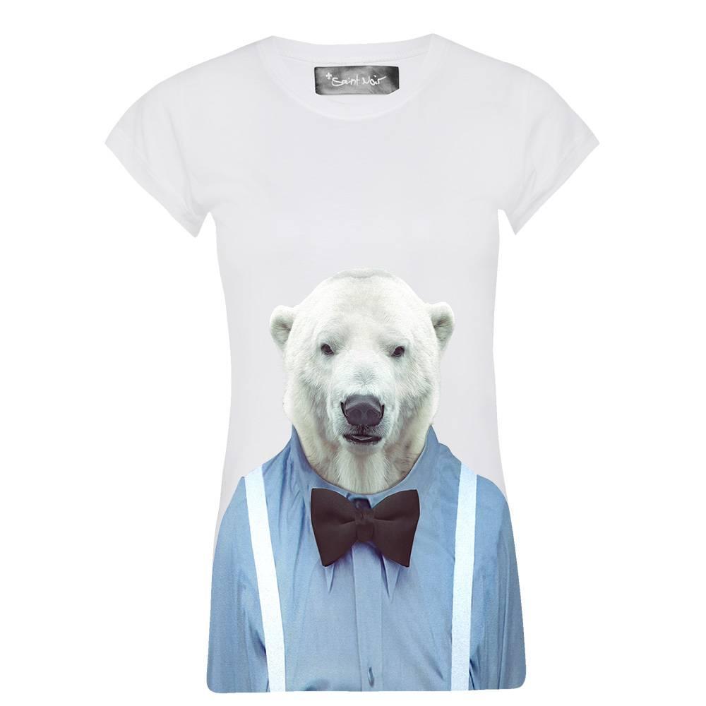 T-Shirt Skinny Cut Damen - Polar Bear - Zoo Portraits