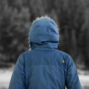 Blau Arcteryx Covert Hoody Frauen