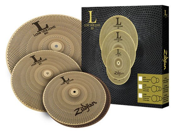 "Zildjian  LV348 Low Volume 348 Series Box Set: 13 ""Hüte, 14"" Crash, 18 ""Crash / Ride ZILV348"
