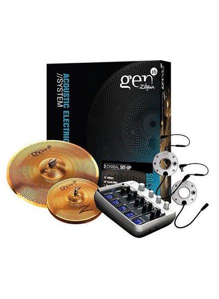 """Zildjian Cymbal set, Gen16, 14"""" hats, 18"""" crash ride, Buffed Bronze"""