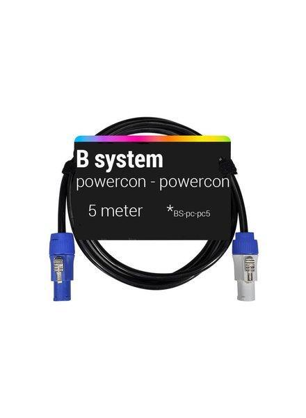 B System 5m Powercon - Powercon voedingskabel 5 meter