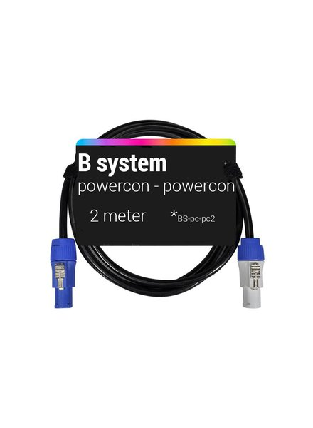 B System 2m Powercon - Powercon voedingskabel 2 meter