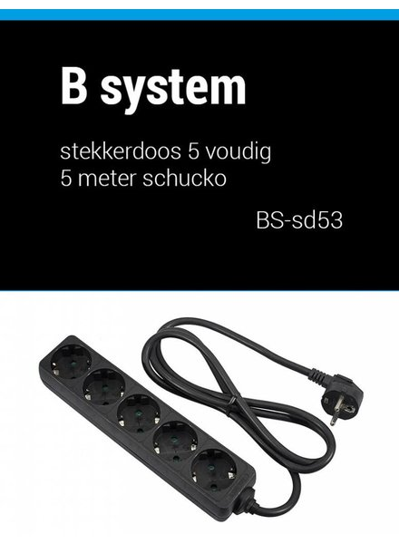 B System Bsystem 3m Socket 5-fold power 3m BS-SD53