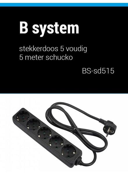 B System Bsystem 1,5 m Buchse 5-fach Stromversorgung 1,5 m BS-SD515