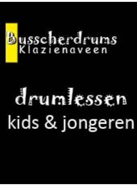 Busscherdrums Drumlessen jaarkaart 38 x 20 minuten wekelijks jongeren 601