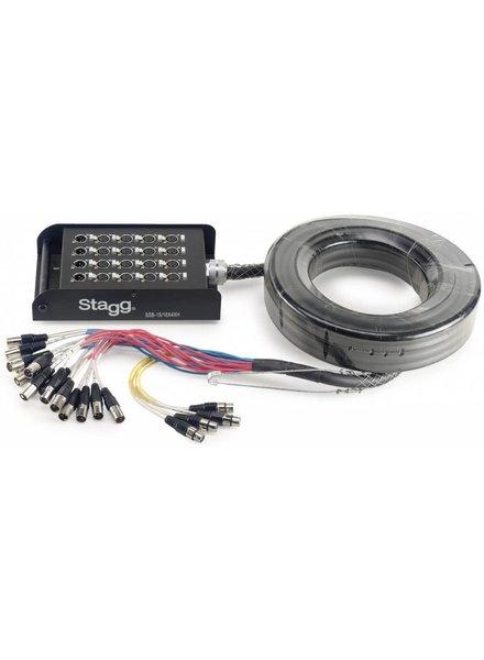 Stagg Stagg Multikabel SSB 15 / 16X4XH Stagebox 16 XLR F / 4 XLR M - 15M