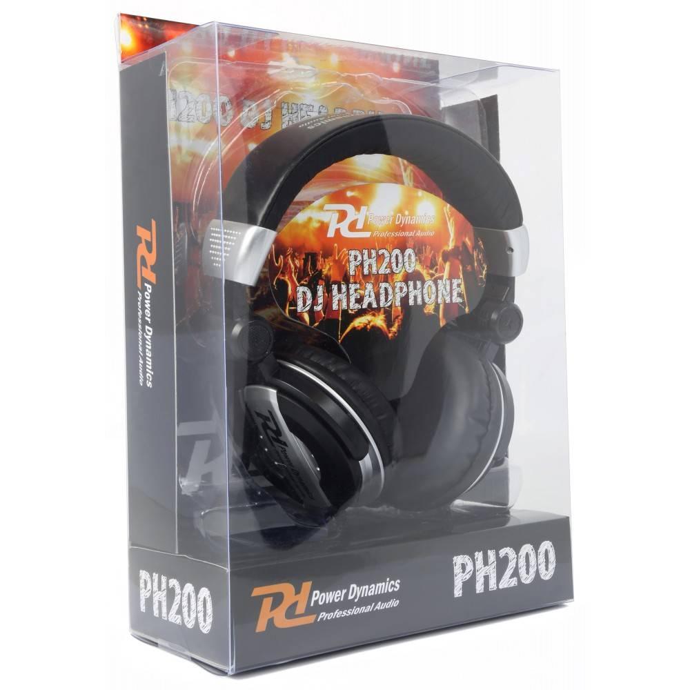 PD Power Dynamics Power-Dynamics PH200 DJ-Kopfhörer Silber