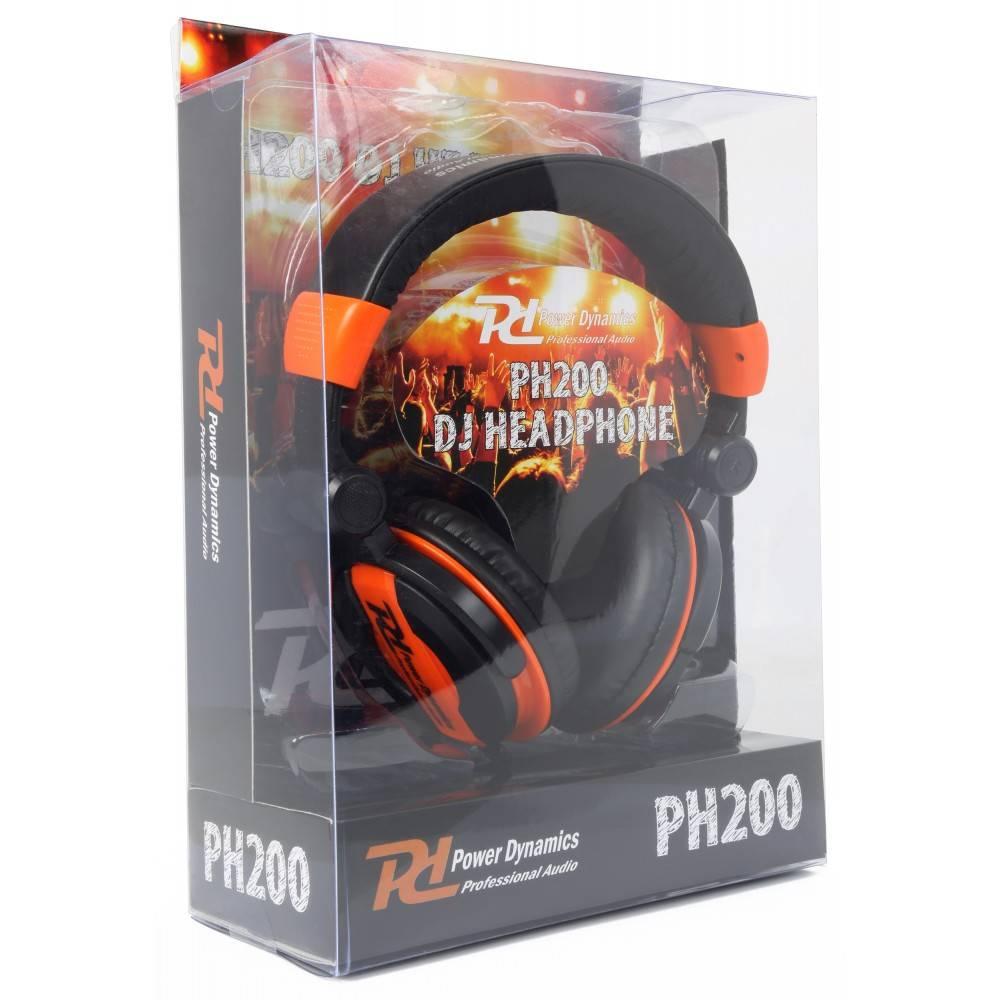 PD Power Dynamics  PH200 DJ koptelefoon Oranje 100.881