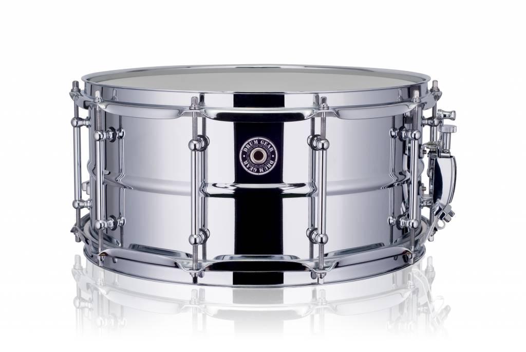 """Drum Gear  Snare Drum Ausrüstung funktioniert Chromstahl 14 x 6.5 """""""