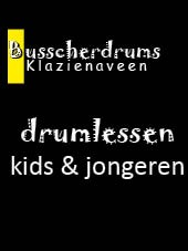 Busscherdrums Drum lessons FLEX20Lessen card 30 minutes individual drum lessons kids & adolescents 902