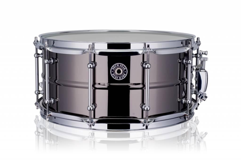 "Drum Gear   snaredrum black brass 14 x 6.5"" DGS-B1465"