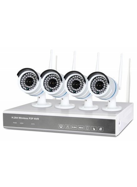 Fenton Wireless-Monitoring-System mit 4 HD camera's4 Cam Wireless-NVR Kit 1TB 351 183