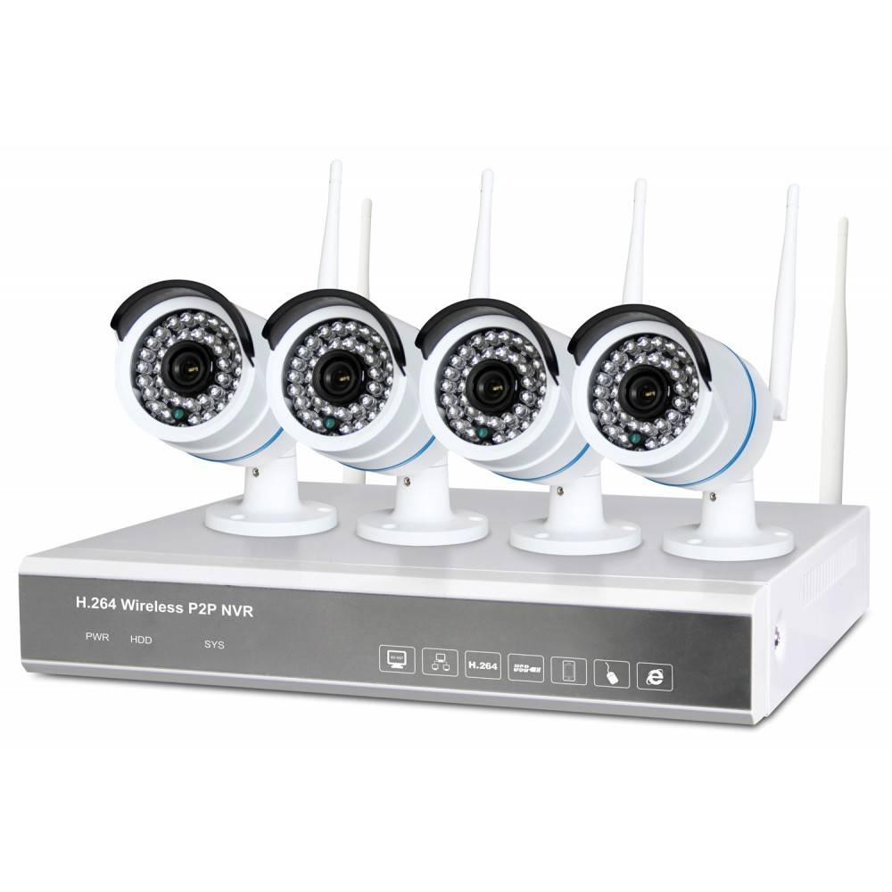 Fenton Draadloos Bewakingssysteem met 4 HD-camera's4 Cam Wireless NVR kit 1TB 351.183