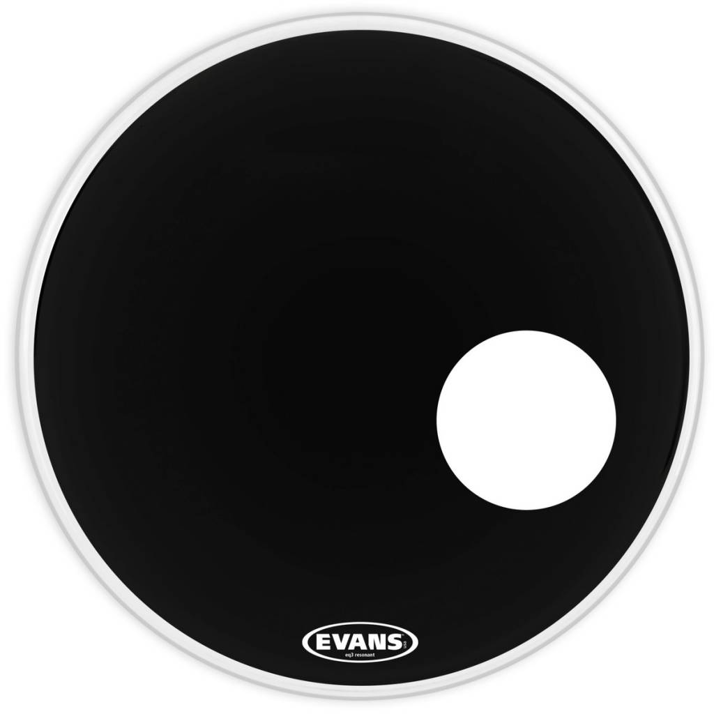 Evans Evans EQ3 Resonanz schwarz mit Port 22 EFTA BD22RB 22 '' GEN EQ3 RES BK