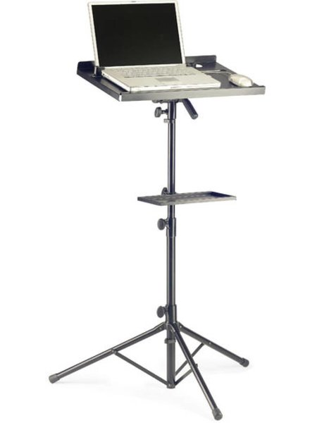 Stagg COS10BK laptop stand met extra blad