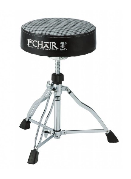 Tama HT430E6W drumkruk 1st Chair Round Rider Trio Drum Stool with Flat Top Limited Edition White