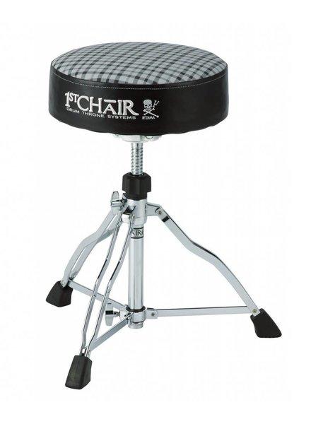 Tama HT430E6W Tama Drumhocker 1st Chair Round Reiter Trio Drum Hocker mit Flat Top Limited Edition Weiß