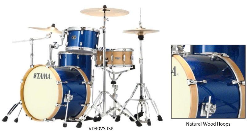 Tama  VS40 ISP Silver Drum-Kit Vintage-Limited Edition Indigo Sparkle