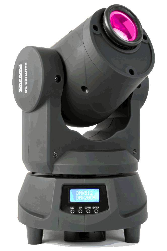 Beamz  Professionelle Panther 50 LED Spot Moving Head Demo