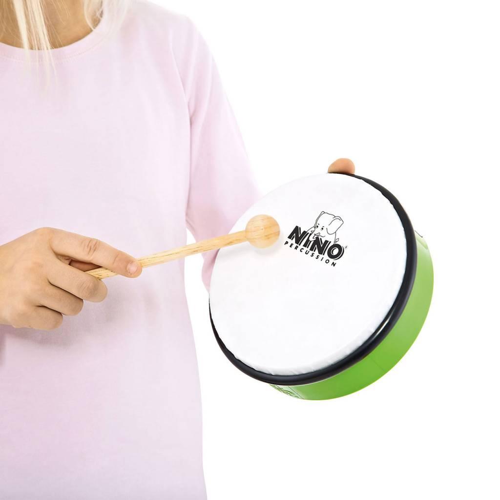 """Meinl NINO Handtrommel NINO5GG abs Handtrommel 10 """"grün inkl. Stab"""
