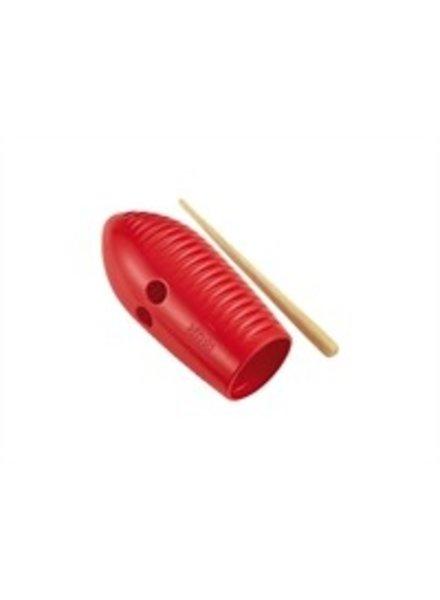 Meinl Nino Percussion NINO581R Mini guiro rot Grater