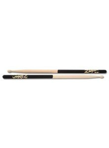 Zildjian Drumsticks, Dip series, 5A wood, natural, black dip