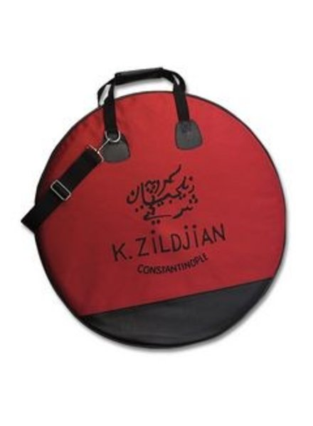 "Zildjian Bag, cymbal bag, 22"", maroon, with K Constantinople logo"