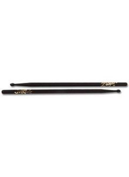 Zildjian 5AWB Trommelstöcke 5A Hickory Wood Tip-Serie ZI5AWB schwarz