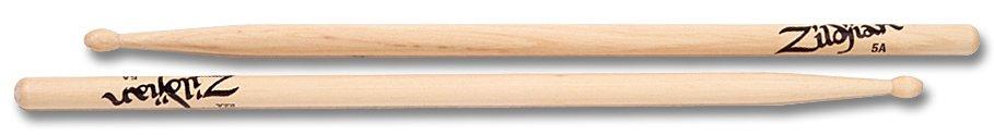 Zildjian  5AWN drumstokken 5A Hickory Wood Tip-serie ZI5AWN