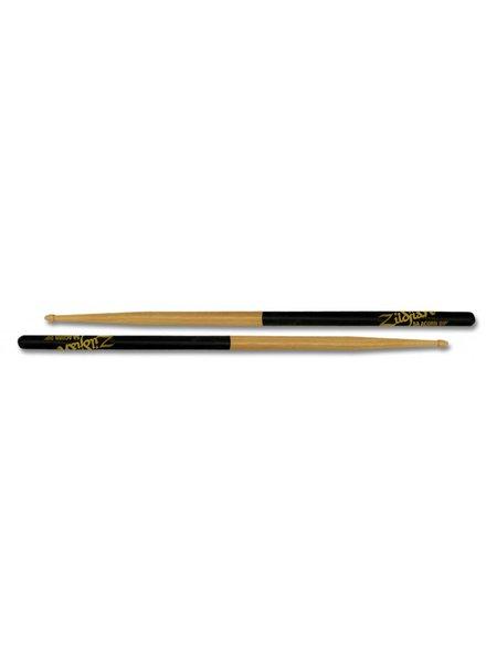 Zildjian Trommelstöcke 5ACD Acorn 5A Hickory Holz Kopf, Schwarz Dip Series