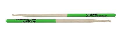 Zildjian  S7AMG Super-7a Ahorn-grüne DIP Drum Sticks