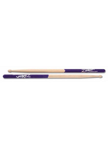 Zildjian Drumsticks, Dip series, Super 5A Wood, natural, purple dip