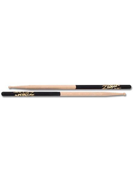 Zildjian Drumsticks, Dip series, 7A wood, natural, black dip