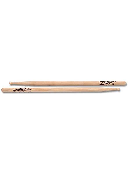 Zildjian ZILDJIAN Trommelstöcke 7A Hickory Wood Tip-Serie ZI7AWN