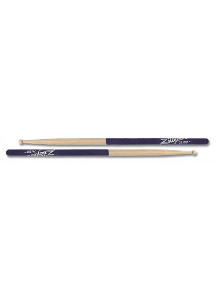 Zildjian Drumsticks, Dip series, 7A wood, natural, purple dip