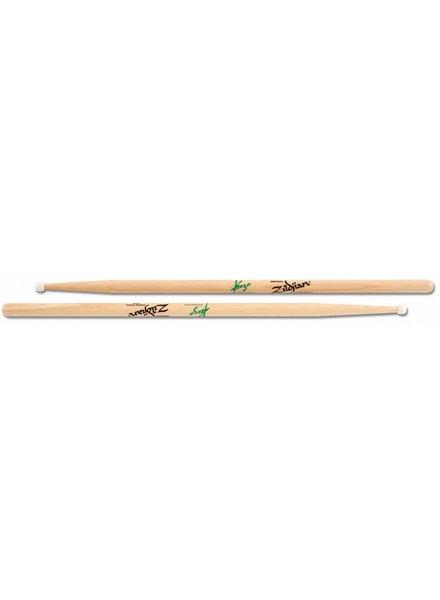 Zildjian Trommelstöcke fordert Artist Series, Kozo Suganuma, Weiß Nylontip, natürliche Farbe ZIASKS