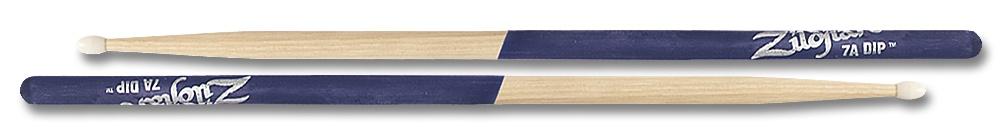 Zildjian  7ANP drumstokken 7A  Nylontip, Dip-serie, natuurkleur, paarse dip ZI7ANP