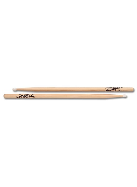 Zildjian 7ANN   drumsticks 7A Hickory Nylon Tip series, natural color ZI7ANN