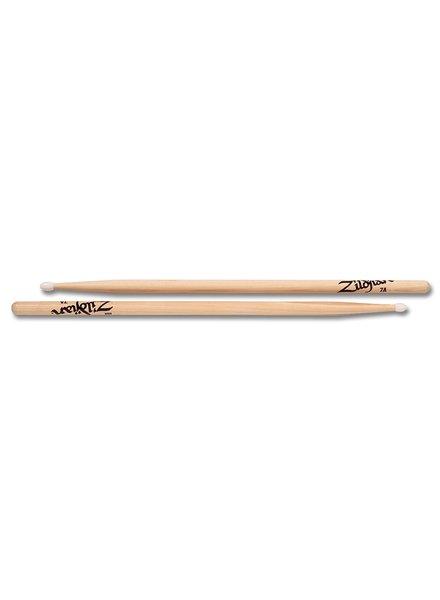 Zildjian 7ANN ZILDJIAN ZILDJIAN Trommelstöcke 7A Hickory Nylon Tip-Serie, natürliche Farbe ZI7ANN