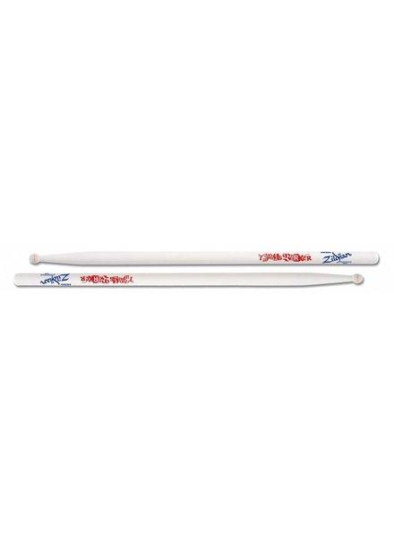 Zildjian Drumsticks, Artist Series, Travis Barker, wood tip, white