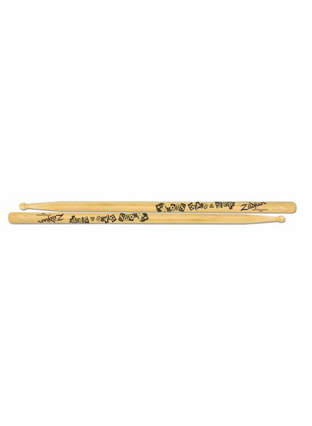 Zildjian ASTBF Artist Series Drumsticks, Travis Barker, Wood Tip, natural color ZIASTBF
