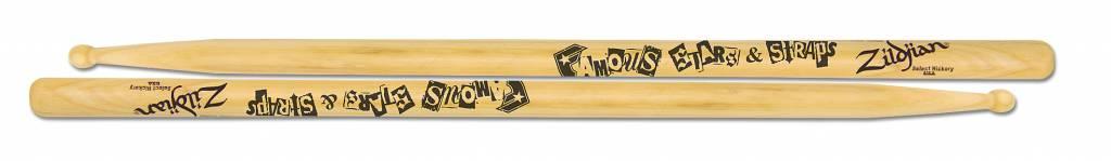 Zildjian  ASTBF Artist Series Drumsticks, Travis Barker, Famous Stars & Straps, Wood Tip, natürliche Farbe ZIASTBF