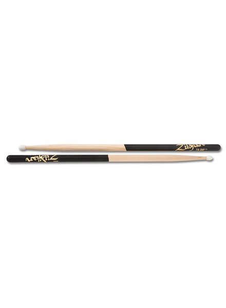 Zildjian 7AND drumsticks 7A Nylontip, Dip series, natural color, black dip ZI7AND