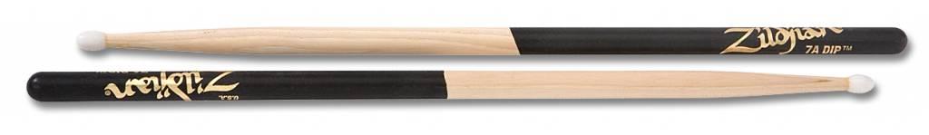 Zildjian  7und Trommelstöcke 7A Nylontip, Dip-Serie, natürliche Farbe, schwarz-Dip ZI7AND