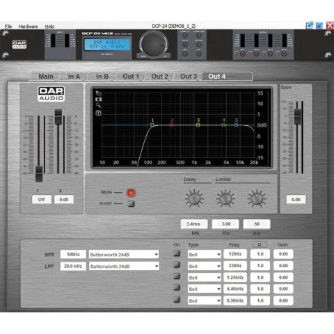 DAP audio pro DAP-Audio DCP-24 MKII Digitale Cross Over 2-in, 4-out-D2083